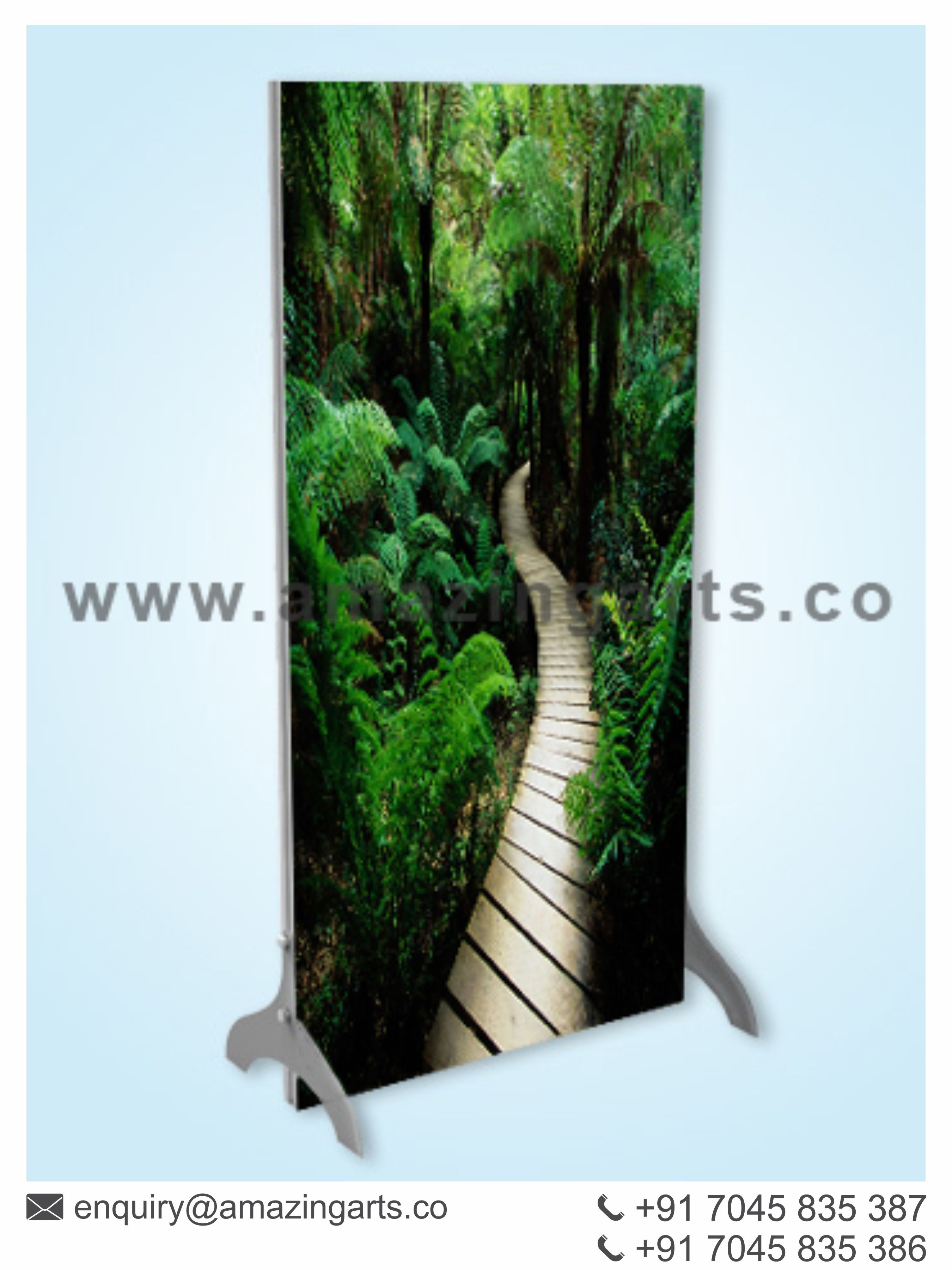 Exhibition Stand Frames : Double sided free standing backlit frame exhibition stall designer