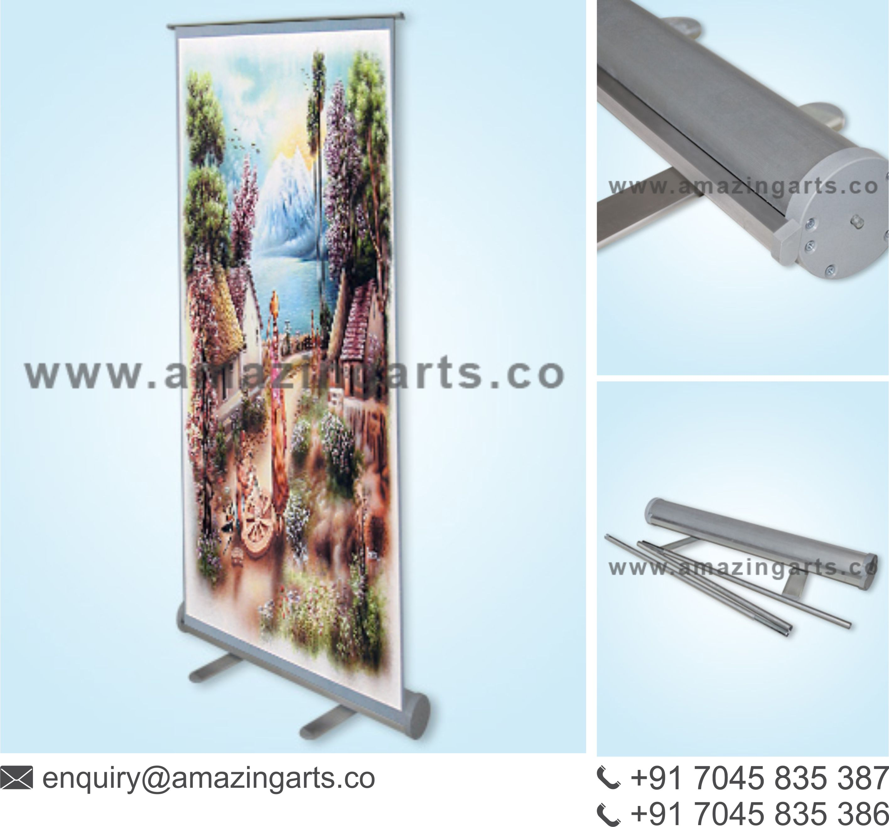 Exhibition Stall Posters : Regular roll up stand exhibition stall designer